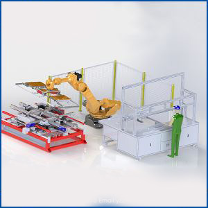 Made in China Robot Servo Full Automatic Regular Overflowing Gluing and Framing All-In-One Machine