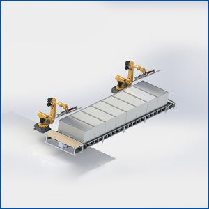 Supply High Quality Solar Panel Module Light Positioning Zero Hidden Crack Robot Curing Line